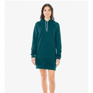 American Apparel green hoodie sweater dress